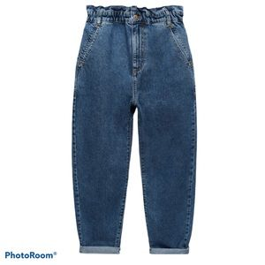 Zara NWT Paperbag Baggie Jeans
